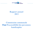 Rapport 2013 Commission accessibilité handicap