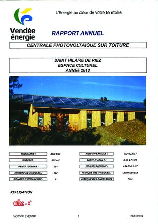 Bilan production energie 45 Tours 2013