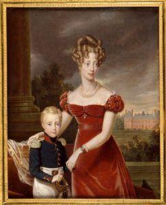 Portrait de la duchesse de Berry et de son fils le duc de Bordeaux, miniature d'Alphonse Giroux d'après Girard, 1826, inv. 981.4.1 - Musée Dobrée - Grand Patrimoine de Loire-Atlantique