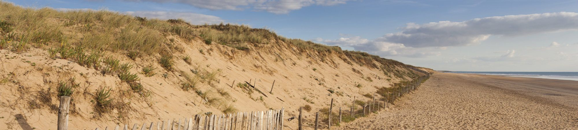 Bandeau de la page 'Les dunes